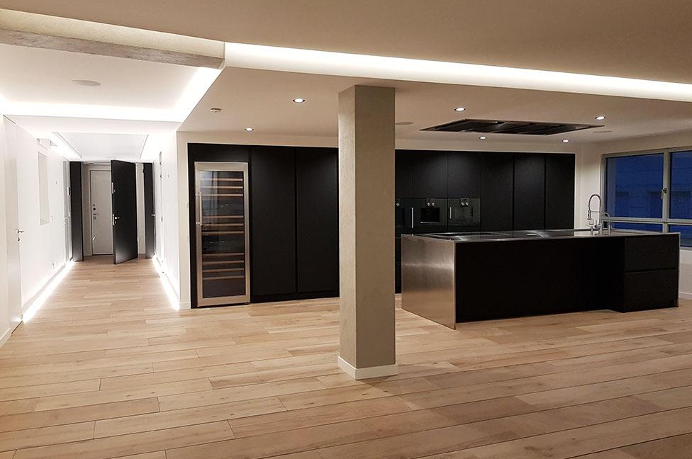 vista salon cocina terminada